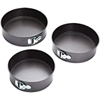 KitchenCraft Non-Stick Springform Cake Tins (Set of 3)
