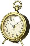 NIKKY HOME Orologio da Tavolo Vintage al Quarzo Orologio da tasca Forma Metallo con Uccello Nero Regalo Decorazione per la Casa