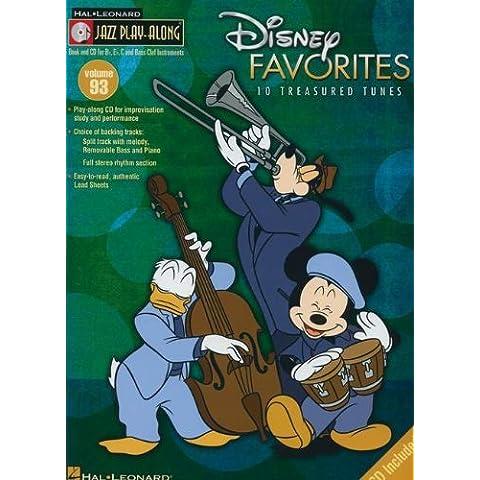 Disney Favorites: 10 Treasured Tunes [With CD (Audio)] (Hal Leonard Jazz Play-Along): 93 by Mark Taylor (Arranger) (1-Jan-2009) Sheet music - 93 Tune