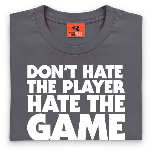 Hate The Game T-Shirt, Herren Anthrazit