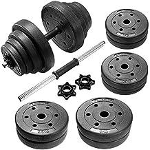 SONGMICS 40 kg Juego de Pesas Mancuernas de Fitness Ideal para Hombres Negro SYL40H