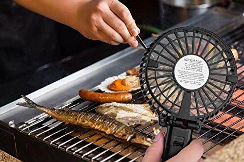 51J7rEMyzNL - Tragbare Elektrizität Kochen BBQ Fan, Barbecue Grill Lüfter, wiederaufladbare Lüfter von TEPSMIGO