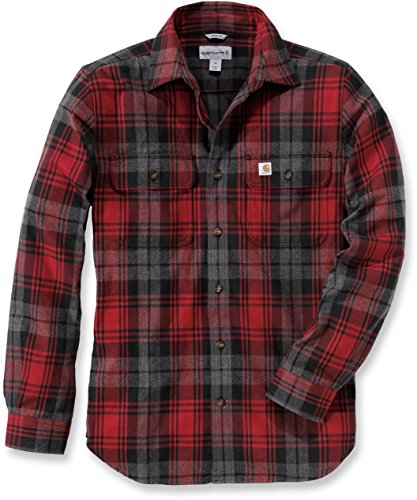 carhartt-mens-casual-shirt-red-small