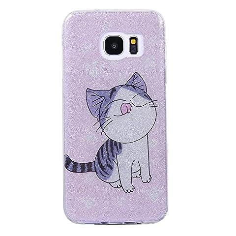 Nancen Coque Samsung Galaxy S7 Edge / SM-G9350 (5,5 pouces), Ultra Mince Etui Housse Couverture Souple TPU Silicone Case Coque de protection , Anti-rayures et anti-poussière