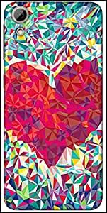 Snoogg Pattern Heart Designer Protective Back Case Cover For HTC Desire 626