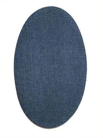 6 knieschoner Denim Medium zum Aufbügeln Farbe 21. Knieschützer Schutz Hose