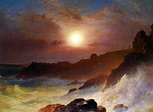 Das Museum Outlet-Coast Szene, Mount Desert von Frederick Edwin Church-A3Poster