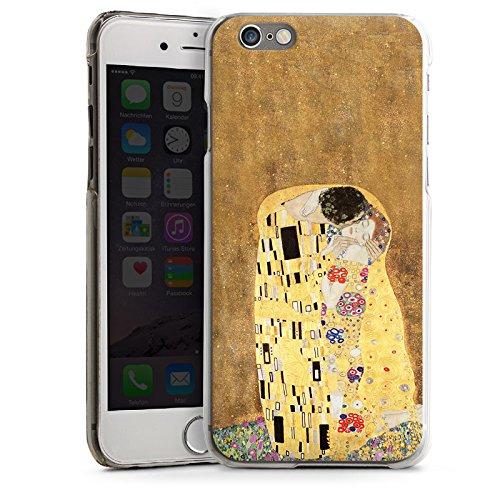 Apple iPhone 5 Housse Étui Silicone Coque Protection Klimt Le Baiser Art CasDur transparent