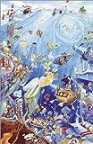 Poster 60 x 90 cm: Wimmelbild: Unterwasserwelt von Bernd Lehmann - Hochwertiger Kunstdruck, Kunstposter