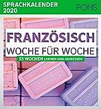 PONS Sprachkalender 2020 Französisch Woche für Woche: 53 Wochen lernen und genießen