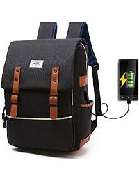 HITOP Leichte Schulrucksack Nette Canvas Schultaschen Damen Mädchen EXTRA Groß Kinderrucksack Daypacks Rucksäcke Modische mit Laptop Fach