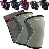 Rehband – Vendaje para rodillas de neopreno de 5 mm (1par) + rodilleras + bolsa de malla Ziatec,para entrenamiento de fuerza y CrossFit