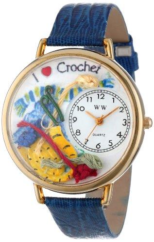 Whimsical Watches Unisex-Armbanduhr Analog Quarz Leder G-0450011