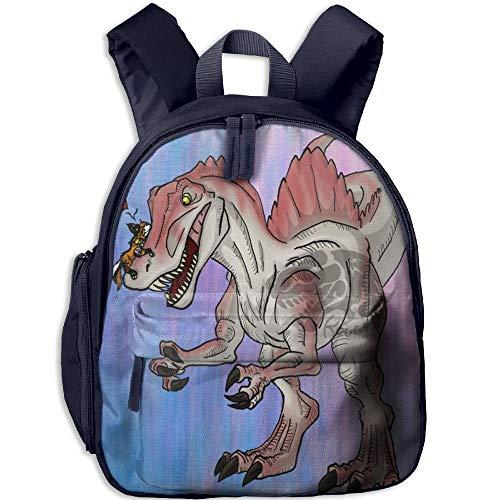 Kindergarten Boys Girls Backpack Dinosaur&Kitty Love School Bag