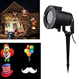 Proiettore Lamp Christmas Projector Lights LED Spotlights Landscape Light with 12 Replaceable Lens Party Indoor/Outdoor Auto Rotating