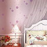 Diente de León princesa jardín dormitorio de habitaciones dormitorios niñas papel pintado el fondo paño no tejido púrpura dulce de pantalla , roland purple /x-2896