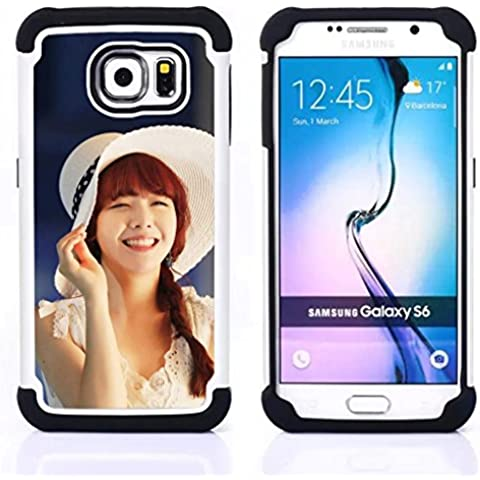 Hypernova Ibrido Heavy Duty Armatura antiurto Cover silicone cassa caso robusto Per Samsung Galaxy S6 / SM-G920 [Carino Koeran Ragazza Asiatica]