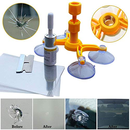 Bulls Eyes and Starts Chips New Power Repair Tool Quick Fix Car Cracks GOUPPER Windshield Cracked Glass Repair Kit