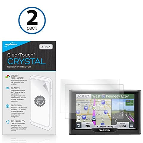 BoxWave Garmin Nuvi 57 ClearTouch Crystal (2-Pack) Screen Protector -