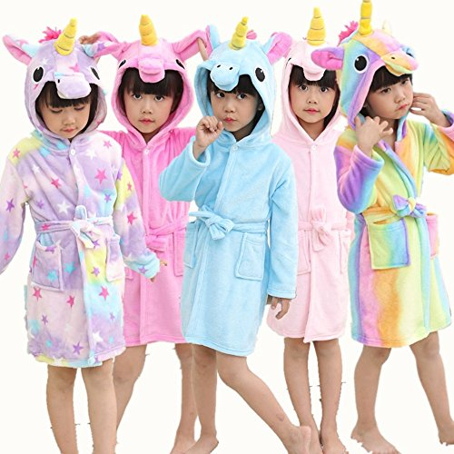Baby & Kids Unicorn Bathrobe Hooded Dressing Gown Pyjamas – The ...