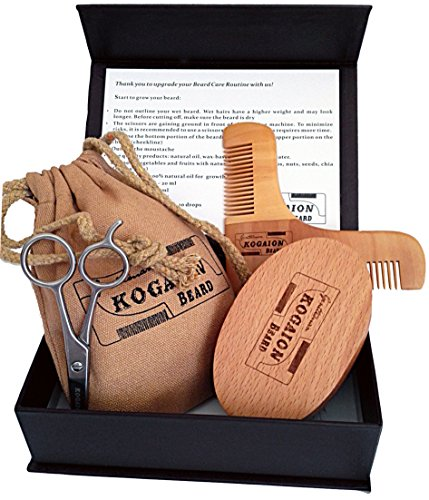 Kogaion Beard Grooming Male Kit - Wood Shaping Comb : Watches and