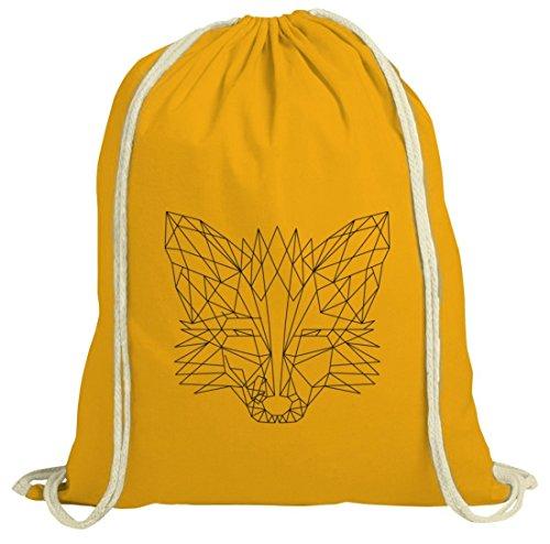 Fox natur Turnbeutel mit Polygon Fuchs Motiv von ShirtStreet gelb natur