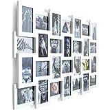 Portaretratos galeria de fotos collage para 28 fotografías madera MDF blanco aprox. ancho 104 x altura 80 cm