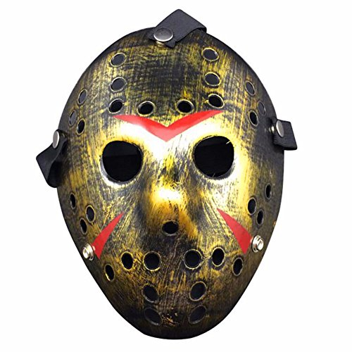 (Homelix Horror Kostüm Hockey Jason Maske Halloween Party Cosplay Requisiten (Bronze))