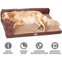 [Gesponsert]ubest Hundebett, Memory Foam Waschbar Hundelounge, orthopädisch und rutschfest Hundekissen, Tpy 1, Größe L(120*90cm)