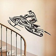 Personalizar motos de nieve tatuajes de pared de vinilo pegatinas decorativas decoración para el hogar deportes