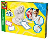 SES Creative 14423 - 3D Handabdruck My First, Kinder Bastelset, Gelb