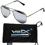 VertX hombres polarizan Aviator gafas de sol clásicas lágrima Color espejo – Lente espejo
