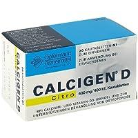 Calcigen D Citro 600 mg/400 I.E. Kautabletten 20St preisvergleich bei billige-tabletten.eu