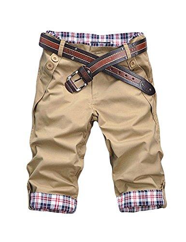 Jueshanzj Mens Cargo Shorts Plaid Printed Casual Bermudas Shorts