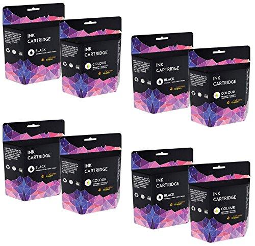 8 Druckerpatronen kompatibel für Kodak 10B & 10C ESP 3 ESP 5 ESP 7 ESP 9 ESP 3250 ESP 5210 ESP 5250 ESP 5300 ESP 5500 ESP 7250 ESP 9200 ESP 9250 ESP Office 6150 Hero 6.1 Hero 7.1 Hero 9.1