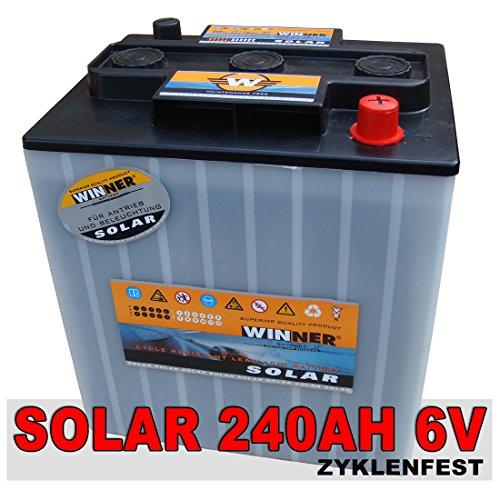 Preisvergleich Produktbild Solarbatterie 240Ah 6V Versorgungsbatterie Wohnmobil Mover Beleuchtung Batterie 6Volt