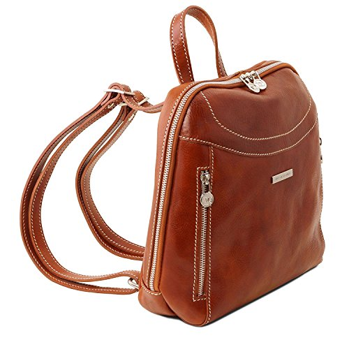 Tuscany Leather Manila - Leather backpack - TL141557 (Brown)