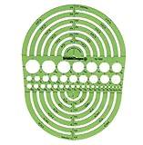 Edward Pickett Isometrisch Sechskantmuttern und Regierungschefs Vorlage 10 Kreisschablone Radius Master grün