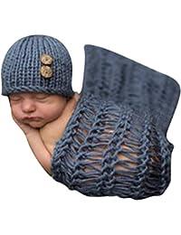 hibote Costume Bébé pour Garçon Fille 0-9 Mois Garment Crochet Knit Crochet  (Pantalons 1e9b980dff4