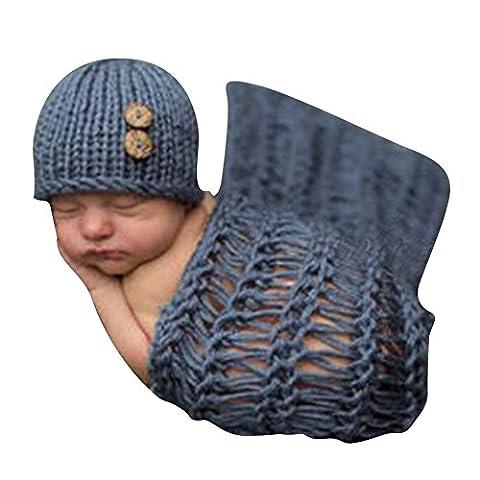 Deylay Costume Bébé pour Garçon Fille 0-9 Mois Garment Crochet