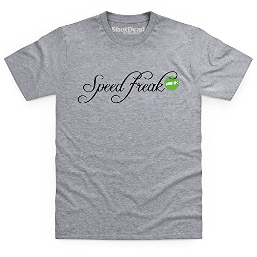 Speed Freak T-Shirt, Herren Grau Meliert