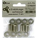 4 Stück Entlüftungsschlüssel, Ohrenschlüssel Heizkörper Heizung Entlüftung, Innenvierkant - Schlüssel , E90059