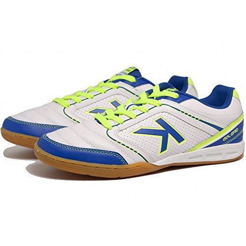 Kelme K-Goleiro Indoor, Chaussures de Football en Salle Homme blanc