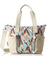 Oilily Whoopy Ornament Handbag Shz, Bolso Mujer, Turquesa (Light Turquoise), 13x26x38 cm (B x H T)