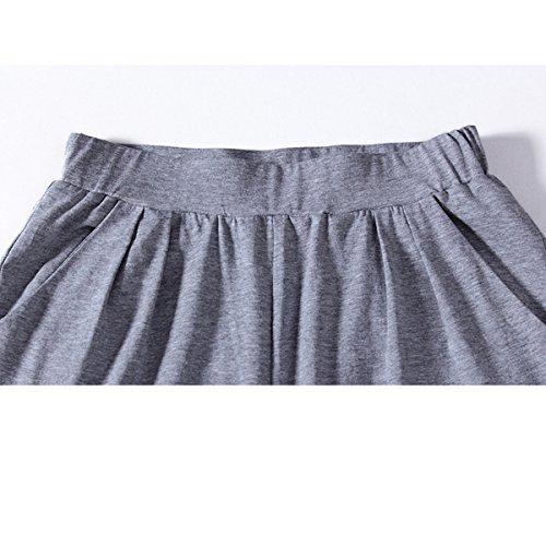 Cotone Signore Tempo Libero Sciolto Indumento Da Letto Pajama Set Pink