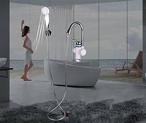 Robinet chauffant instantanément Deux styles Chauffe-eau électrique Cuisine Chauffe-eau à