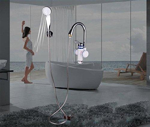 Sofort Beheizter Hahn Zwei Stile Elektrische Warmwasserbereiter KüChe Sofortige Warmwasser-Hahn-Heizung Elektrischer Wasser-Hahn Sofort-Heizung 3000W Mit Duschkopf