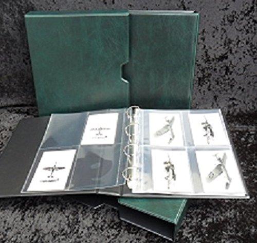 Post Card und Archivierung Storage Binder mit Slip Case in grün