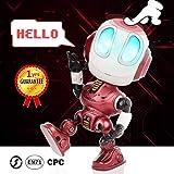 Peradix Robot interactif avec lumières LED illuminées et Fonction de répétition vocale, Enregistrement Parler Robot Jouets