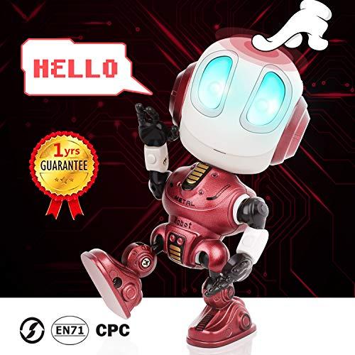 Peradix Enregistrement de Robots parlants interactif avec lumières LED illuminées et Fonction de répétition vocale, Enregistrement Parler Robot Jouets